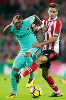 Athletic de Bilbao's Ander Iturraspe (r) and FC Barcelona's Paulinho during La Liga match. October 28,2017. (ALTERPHOTOS/Acero) /NortePhoto.com