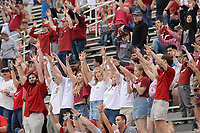 NWA Democrat-Gazette/ANDY SHUPE<br /> Arkansas fans call the Hogs Saturday, April 6, 2019, during the Razorbacks' spring game in Razorback Stadium in Fayetteville. Visit nwadg.com/photos to see more photographs from the game.