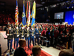 Military Color Guard at the second inauguration of Governor Paul R. LePage, Augusta Civic Center, Augusta, Maine, USA, January 7, 2015.