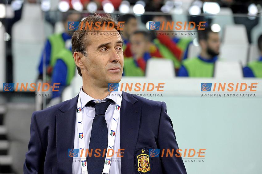 Julen Lopetegui Spain,<br /> Torino 06-10-2016 Juventus Stadium <br /> World Cup Qualifiers Italy - Spain / Italia - Spagna. Foto Filippo Alfero / Insidefoto