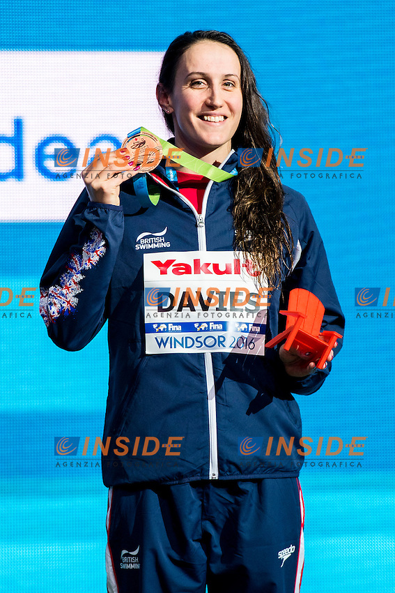 DAVIES Georgia GBR Bronze Medal<br /> Women's 100m Backstroke<br /> 13th Fina World Swimming Championships 25m <br /> Windsor  Dec. 7th, 2016 - Day02 Finals<br /> WFCU Centre - Windsor Ontario Canada CAN <br /> 20161207 WFCU Centre - Windsor Ontario Canada CAN <br /> Photo &copy; Giorgio Scala/Deepbluemedia/Insidefoto