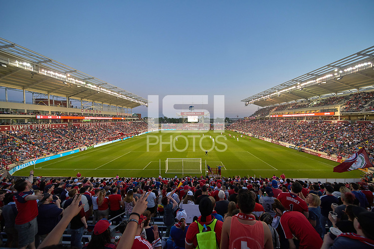 Bridgeview, IL - Saturday, May 13, 2017: The Chicago Fire played the Seattle Sounders FC in a Major League Soccer (MLS) game at Toyota Park. Chicago Fire defeated Seattle Sounders FC by the score of 4-1.