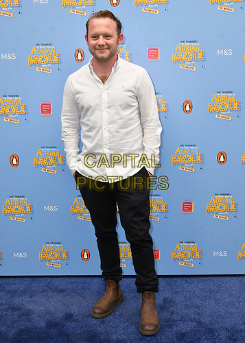 Michael Jibson attends The Secret Diary Of Adrian Mole Aged 13 ¾ musical adaptation of Sue Townsend's comic fiction which opens in Adrian's 50th birthday year and follows the daily dramas and misadventures of the teenager's adolescent life, at Ambassadors Theatre, London, England on July 02, 2019.<br /> CAP/JOR<br /> ©JOR/Capital Pictures