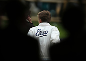 10th September 2017, Goodwood Estate, Chichester, England; Goodwood Revival Race Meeting; A member of the pit crew watch the race from the pit wall