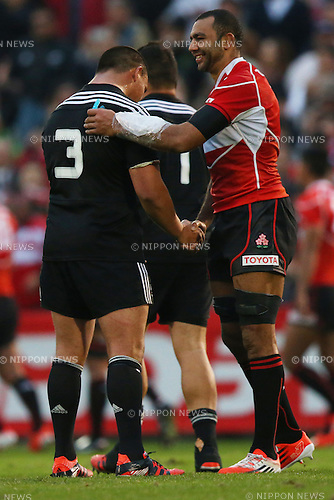 Michael Leitch (JPN),<br /> NOVEMBER 8, 2014 - Rugby : <br /> International rugby friendly match <br /> between Japan XV 18-20 Maori All Blacks <br /> at Chichibunomiya Rugby Stadium, Tokyo, Japan. <br /> (Photo by Shingo Ito/AFLO SPORT) [1195]
