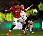 Diogo Dalot of Manchester United challenges Jason Knight of Derby County during the FA Cup match at the Pride Park Stadium, Derby. Picture date: 5th March 2020. Picture credit should read: Darren Staples/Sportimage