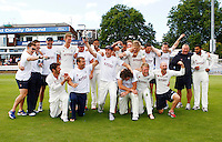 PICTURE BY KEIRAN GALVIN/SWPIX.COM - Cricket - County Championship, Div 2 - Essex v Yorkshire, Day 4 - Ford County Ground, Chelmsford, England - 14/09/12 - Yorkshire celebrate victory and promotion to Division One.