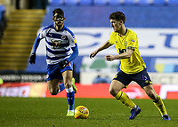 Blackburn Rovers' Richard Smallwood competing with Reading's Nelson Oliveira  <br /> <br /> Photographer Andrew Kearns/CameraSport<br /> <br /> The EFL Sky Bet Championship - Reading v Blackburn Rovers - Wednesday 13th February 2019 - Madejski Stadium - Reading<br /> <br /> World Copyright © 2019 CameraSport. All rights reserved. 43 Linden Ave. Countesthorpe. Leicester. England. LE8 5PG - Tel: +44 (0) 116 277 4147 - admin@camerasport.com - www.camerasport.com