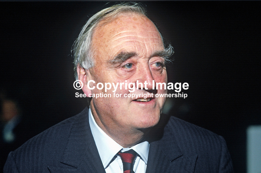 Lord Whitelaw, aka William Whitelaw, leader, Conservative Party, House of Lords, UK, 19840142WW1.<br />