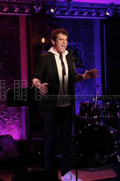 Jay Armstrong Johnson during his Feinsteins/54 Below Press Preview at Feinsteins/54 Below on April 7, 2016 in New York City.