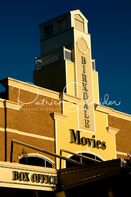 Photography of mixed-use development Birkdale Village, a suburban shopping center.