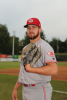 Graham Ashcraft (41) of the Greeneville Reds poses for a photo prior to a game against the Bristol Pirates at Boyce Cox Field on July 31, 2019 in Bristol, Virginia. The Pirates defeated the Reds 13-3. (Tracy Proffitt/Four Seam Images)