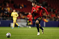 18th November 2019; Wanda Metropolitano Stadium, Madrid, Spain; European Championships 2020 Qualifier, Spain versus Romania;  Alvaro Morata (esp)  breaks forward on the ball - Editorial Use