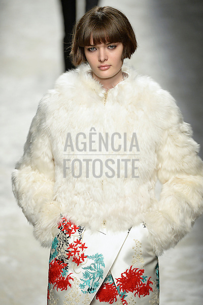 Milao, Italia &ndash; 02/2014 - Desfile de Blumarine durante a Semana de moda de Milao - Inverno 2014.&nbsp;<br /> Foto: FOTOSITE