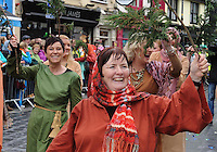 17-03-2014: Betty Rohan, Killarney Musical Society, in  the St. Patrick's Day Parade in KIllarney, Co. Kerry on Monday. Picture: Eamonn Keogh (MacMonagle, Killarney)