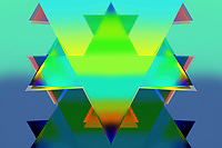 Abstract overlapping triangle pattern