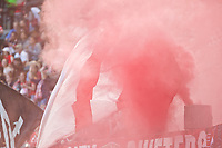 Portland, OR - Wednesday June 28, 2017: Thorns smoke during a regular season National Women's Soccer League (NWSL) match between the Portland Thorns FC and FC Kansas City at Providence Park.