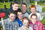 CLEANING: Helping with the clean up of St John's graveyard in Tralee last Thursday were Mercy Mounthawk transition year students, front l-r: Daniel O'Keefe, Emma Nolan, Austin Hayes, Sinead Boyle. Back, l-r: Diarmuid McGarry, Andrew Foley and Edward O'Carroll.   Copyright Kerry's Eye 2008