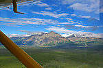 KLUANE NTN'L PARK MOUNTAIN RANGES, THE YUKON, CANADA. AERIAL PHOTOS.