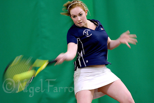 16 MAR 2008 - SHEFFIELD, UK - Laura Pettingale - Loughborough University (dark blue) v London Metropolitan University - BUSA Championships. (PHOTO (C) NIGEL FARROW)