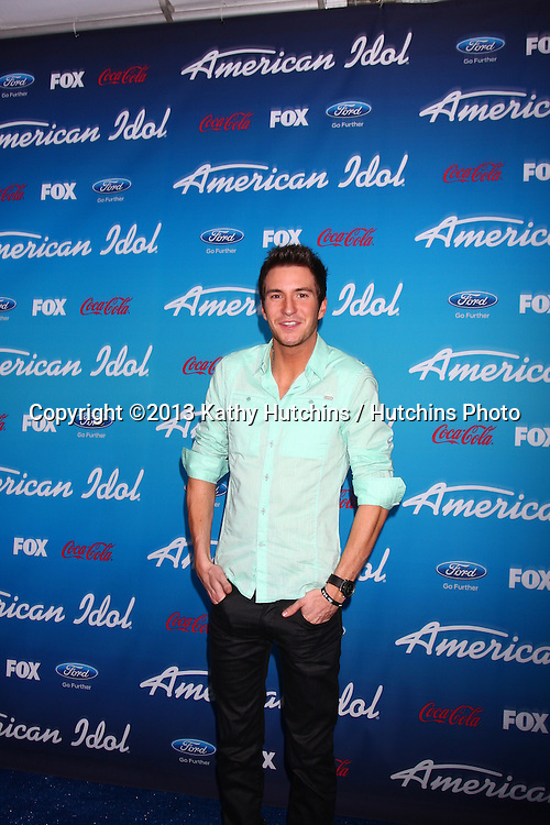 "LOS ANGELES - MAR 7:  Paul Jolley arrives at the 2013 ""American Idol"" Finalists Party at the The Grove on March 7, 2013 in Los Angeles, CA"