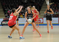 08.02.2017 New Zealand's Gina Crampton in action during the Wales v Silver Ferns netball test match at Swansea University at Ice Arena Wales. Mandatory Photo Credit ©Ian Cook/Michael Bradley Photography.