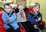 Jake, Andrew and Conor at the Pyjama Day in Mornington Pre-School in aid of the Haiti earthquake victims...Photo NEWSFILE/Jenny Matthews.(Photo credit should read Jenny Matthews/NEWSFILE)....This Picture has been sent you under the condtions enclosed by:.Newsfile Ltd..The Studio,.Millmount Abbey,.Drogheda,.Co Meath..Ireland..Tel: +353(0)41-9871240.Fax: +353(0)41-9871260.GSM: +353(0)86-2500958.email: pictures@newsfile.ie.www.newsfile.ie.FTP: 193.120.102.198.