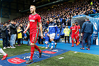 Mike van der Hoorn of Swansea City walks onto the pitch during The Emirates FA Cup Fifth Round match between Sheffield Wednesday and Swansea City at Hillsborough, Sheffield, England, UK. Saturday 17 February 2018