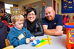 First day of school for John Riordan,pictured with his mom and Dad Maeve Niall Riordan from Ballinorig, Tralee  at Scoil Eoin Balloonagh on Thursday
