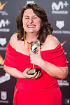 Adelfa Calvo  receives the Best Supporting Actress during Feroz Awards 2018 at Magarinos Complex in Madrid, Spain. January 22, 2018. (ALTERPHOTOS/Borja B.Hojas)