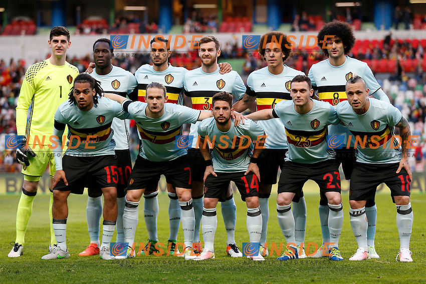 Formazione BELGIO <br /> Team Belgium   pictured during the FIFA international friendly match between Portugal and Belgium as part of the preparation of the Belgian national soccer team prior to the UEFA EURO 2016  in Leiria, Portugal. equipe team <br /> Foto Insidefoto