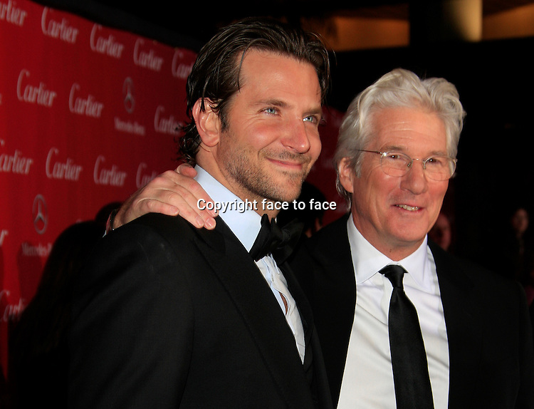 Richard Gere, Bradley Cooper attending the 24th Annual Palm Springs International Film Festival Awards Gala at the Palm Springs Convention Center on January 5, 2013 in Palm Springs, California...Credit: Martin Smith/face to face
