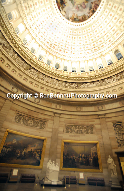 Rotunda paintings in US Capitol Washington DC, United States Capitol Washington D.C., United States Capital and legislature, Federal government of the United States of America Washington D.C.,