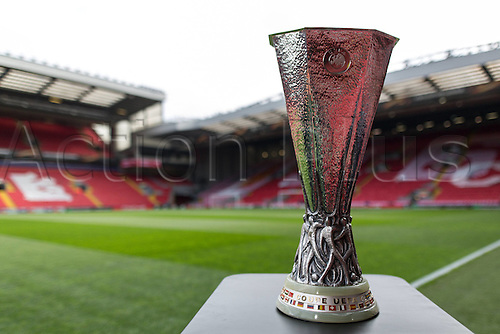 14.04.2016. Liverpool, England.  European Cup on display before the  Europe League Quarter-finals  between the FC Liverpool and Borussia Dortmund