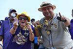 OMAHA, NE - JUNE 26: Tigers fans cheer on their team before Louisiana State University takes on the University of Florida during the Division I Men's Baseball Championship held at TD Ameritrade Park on June 26, 2017 in Omaha, Nebraska. The University of Florida defeated Louisiana State University 4-3 in game one of the best of three series.(Photo by Jamie Schwaberow/NCAA Photos via Getty Images)