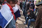 Die Teilnehmer der Demonstration waren vor allem nationalistisch motiviert.