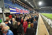 VOETBAL: HEERENVEEN: Abe Lenstra Stadion, 15-09-2012, SC Heerenveen - ADO Den Haag, Eindstand 1-3, SCH publiek gaat ontevreden naar huis, ©foto Martin de Jong