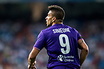 Giovanni Simeone of ACF Fiorentina looks on during the Santiago Bernabeu Trophy 2017 match between Real Madrid and ACF Fiorentina at the Santiago Bernabeu Stadium on 23 August 2017 in Madrid, Spain. Photo by Diego Gonzalez / Power Sport Images