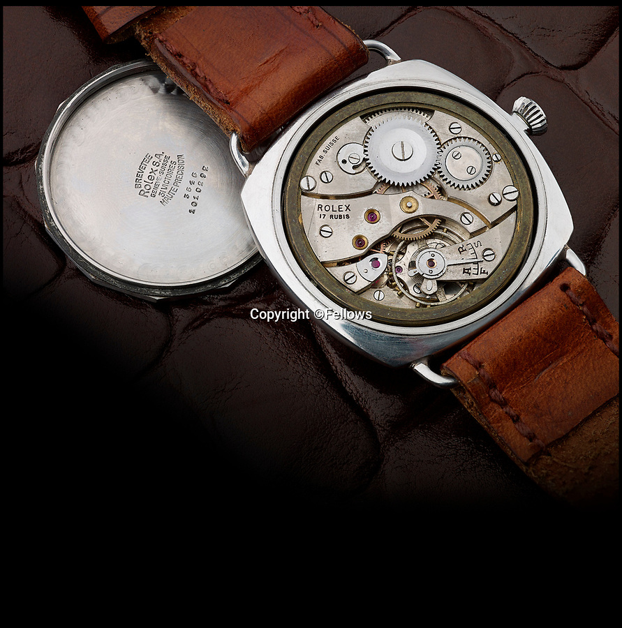 BNPS.co.uk (01202 558833)<br /> Pic: Fellows/BNPS<br /> <br /> The super-rare watch would be valuable even without its astonishing history.<br /> <br /> Resurfacing - Historic watch captured from a brave German frogman, for whom the road bridge at Nijmegen proved a bridge to far.<br /> <br /> The family of a British WW2 hero who captured a German diver trying to blow up a vital bridge in the wake of Operation Market Garden, are now <br /> selling the incredibly rare Rolex Panerai watch seized from the exhausted diver.<br /> <br /> Sergeant Major George Rowson helped thwart the attempt to destroy the recently captured road bridge at Nijmegen after another team of German frogman had managed to destroy the neighbouring rail bridge.<br /> <br /> The highly trained German special forces placed fixed charges to the underwater footings of both bridge's, but after being spotted, under heavy fire, and in an exhausted state they were captured at gunpoint by Sgt Rowson and his colleagues. <br /> <br /> Sgt Rowson relieved the frogman of his precious watch and wetsuit and kept them until his recent death.<br /> <br /> His family are now selling the historic artefacts with specialist Auctioneers Fellows in Birmingham, with a whopping £40,000 estimate.