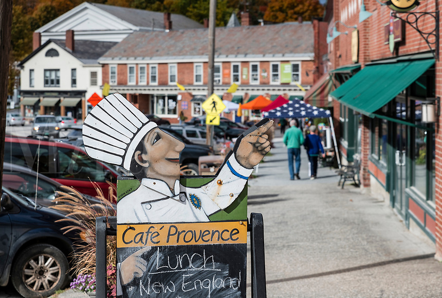 Charming town of Mount Pleasant, Vermont, USA.
