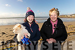 Caoimhe and Anne Cahill O'Connell at Ballyheigue Races on New Years Day.