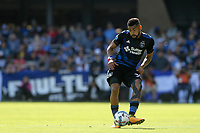 San Jose, CA - Sunday October 22, 2017: Anibal Godoy during a Major League Soccer (MLS) match between the San Jose Earthquakes and Minnesota United at Avaya Stadium.