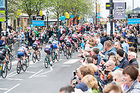 Picture by Allan McKenzie SWpix.com - 04/05/2018 - Cycling - 2018 Asda Women's Tour de Yorkshire - Stage 2: Barnsley to Ilkley - The peloton comes through Ilkley.