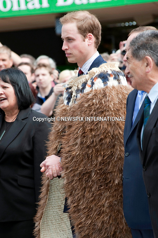 "PRINCE WILLIAM.Prince William opened the Supreme Court building in Wellington.The Prince was greeted with a traditional Maori Hongi on arrival and also wore a  Korowui (cape) made from feathers and plat fibbers.New Zealand's Primer Minister John Key accompanied Prince William. Wellington, 18/01/2010 .Mandatory Credit Photo: ©DIAS-NEWSPIX INTERNATIONAL..**ALL FEES PAYABLE TO: ""NEWSPIX INTERNATIONAL""**..IMMEDIATE CONFIRMATION OF USAGE REQUIRED:.Newspix International, 31 Chinnery Hill, Bishop's Stortford, ENGLAND CM23 3PS.Tel:+441279 324672  ; Fax: +441279656877.Mobile:  07775681153.e-mail: info@newspixinternational.co.uk"