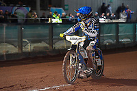 Heat 9 Linus Sundstrum of Poole Pirates during Poole Pirates vs Belle Vue Aces, Elite League Speedway at The Stadium on 11th April 2018