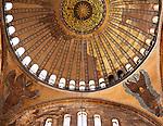 Hagia Sophia Dome 02 - Main dome of Hagia Sophia (Aya Sofya) basilica, Sultanahmet, Istanbul, Turkey