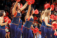 CHARLOTTESVILLE, VA- DECEMBER 6: Virginia Cavaliers dancers perform during the game on December 6, 2011 against the George Mason Patriots at the John Paul Jones Arena in Charlottesville, Virginia. Virginia defeated George Mason 68-48. (Photo by Andrew Shurtleff/Getty Images) *** Local Caption ***