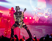 LAS VEGAS, NV - October 31: DJ Ashba pictured as Guns N' Roses kick off Residency show,  Appetite for Democracy at The Joint at Hard Rock Hotel & Casino October 31, 2012 in Las Vegas, Nevada.   Photo By: Kabik/Starlitepics/MediaPunch Inc. /NortePhoto