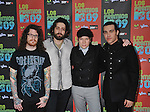UNIVERSAL CITY, CA. - October 15: Musicians Andy Hurley, Joe Trohman, Patrick Stump and Pete Wentz of Fall Out Boy  attend Los Premios MTV 2009 Latin America Awards held at the Gibson Amphitheatre on October 15, 2009 in Universal City, California.