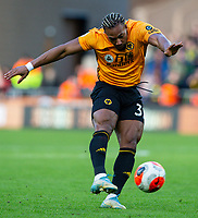 Wolverhampton Wanderers' Adama Traore shoots<br /> <br /> Photographer Alex Dodd/CameraSport<br /> <br /> The Premier League - Wolverhampton Wanderers v Norwich City - Sunday 23rd February 2020 - Molineux - Wolverhampton<br /> <br /> World Copyright © 2020 CameraSport. All rights reserved. 43 Linden Ave. Countesthorpe. Leicester. England. LE8 5PG - Tel: +44 (0) 116 277 4147 - admin@camerasport.com - www.camerasport.com